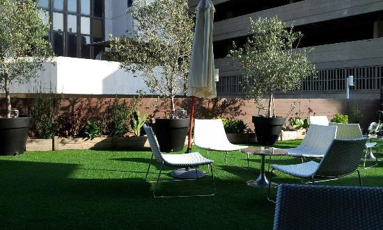 "Brown TLV Urban Hotel: ""garden"" always nice for a coffee"