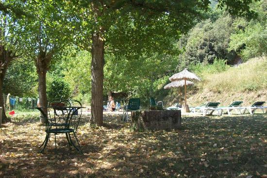 El Moli d'en Sola: the pool terrace