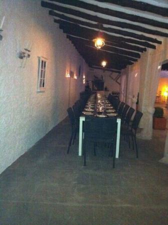 Hotel Salome: rica cena en la terraza
