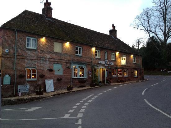 The White Lion Inn: The front of the Inn
