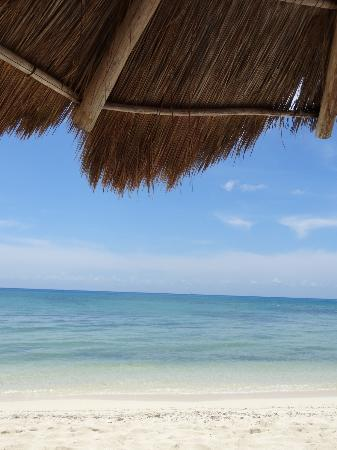 View from a sand chair on the beach at Allegro Cozumel