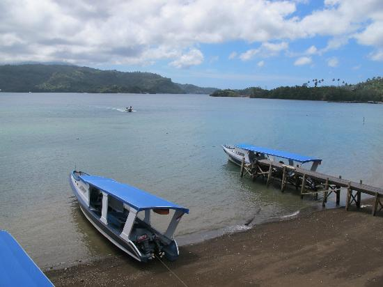 Bastianos Lembeh Diving Resort: View from the front of the resort