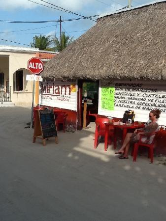 Miriam: Restaurant exterior
