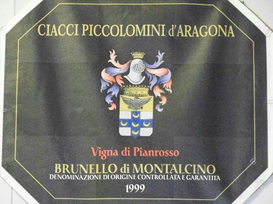 Castelnuovo dell'Abate, İtalya: Brunello of the Winery