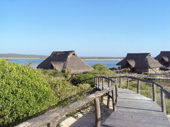 Nyati Beach Lodge: Private thatch and wood chalets