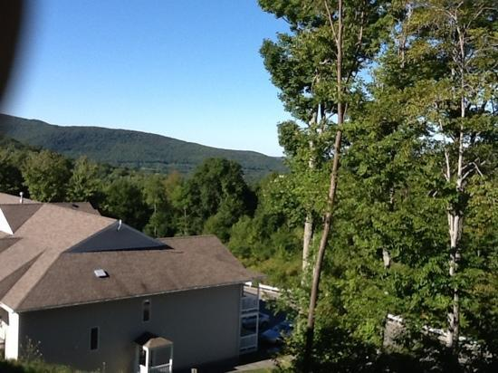 Vacation Village in the Berkshires: view from balcony