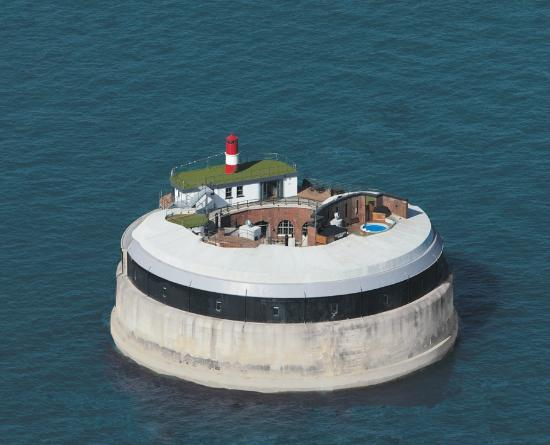 Spitbank Fort From The Air Picture Of Spitbank Fort