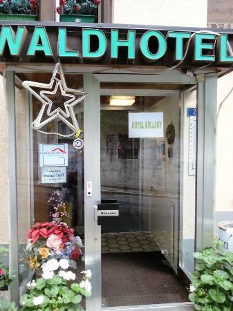 Waldhotel Bellary: Front door.