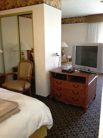 Radisson Hotel San Diego - Rancho Bernardo: Bedroom and living room is separated by a half-wall