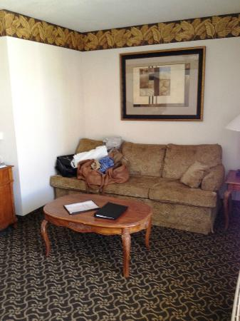 Radisson Hotel San Diego - Rancho Bernardo: Front of suite is the living room, pull-out couch & desk