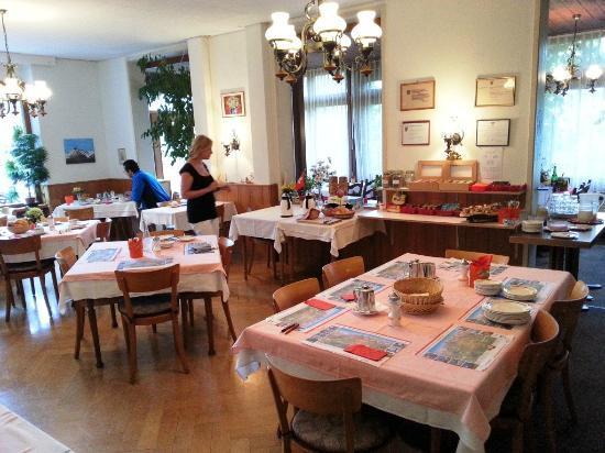 Waldhotel Bellary: Dining area.