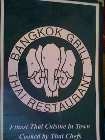 Bangkok Grill: Menu cover