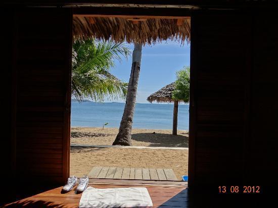 Anjiamarango Beach Resort: Vue depuis notre chambre !