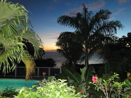 Villa Rose Caraibes : vue du bungalow Asia