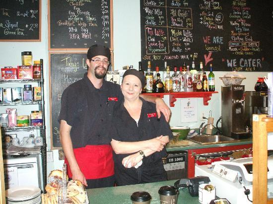 Bean Bank Cafe : Manager Carrie.  Her sister Suzanne owns the restaurant.