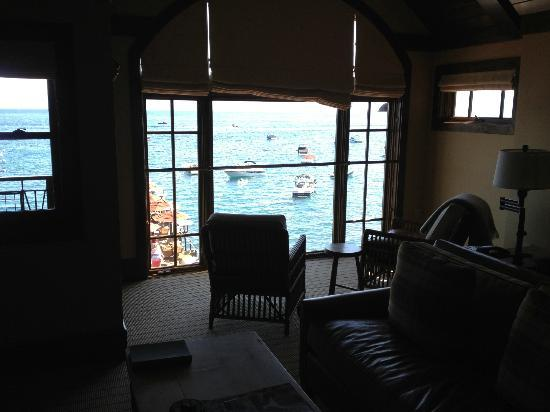 West Shore Cafe and Inn: Living room