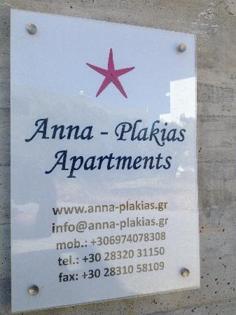 Anna Plakias Apartments: contact