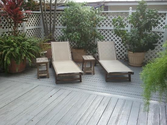 Ambrosia Key West Tropical Lodging: Private Deck Area