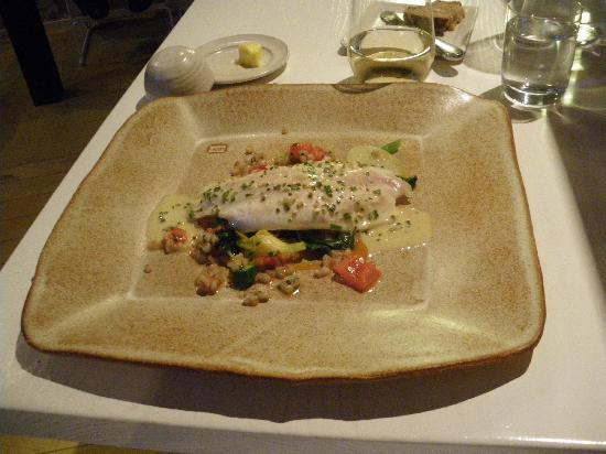 Spis : Wild fish (pike perch) on fresh vegetables and polypody sauce