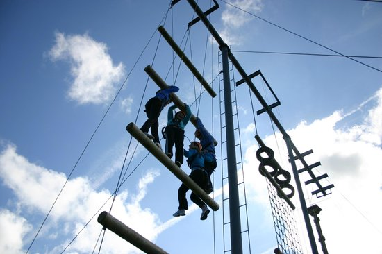 Ballyhass Lakes Activity Centre, Fishing & Wakepark: High Ropes Ballyhass Lakes Activity Centre