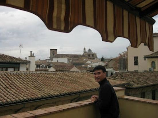 Apartamentos Turisticos San Matias: view from our rooftop balcony, Cathedral in distance