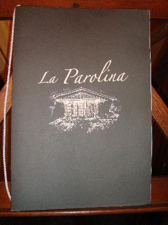 Ristorante La Parolina: La carte de la Parolina