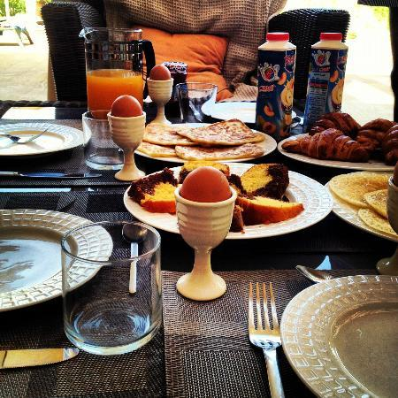 Moroccan Breakfast cooked by maid