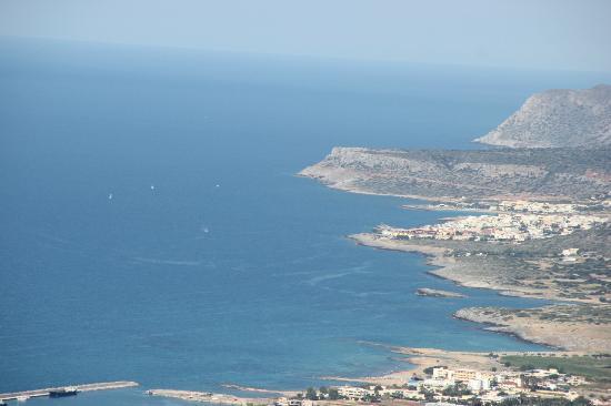 Safari Club Crete: Le panorama avant de prendre la descente