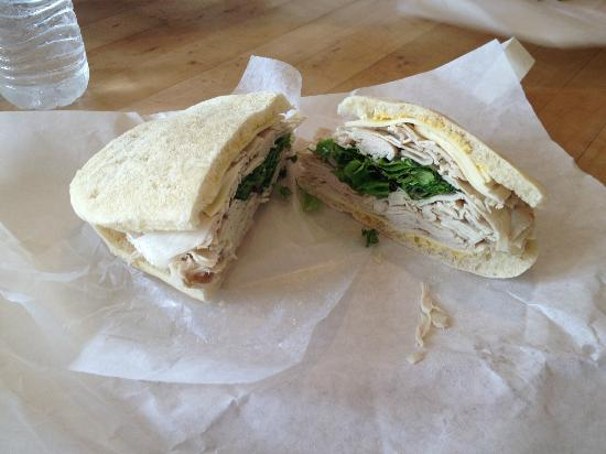 Sam & Jack's Deli: Turkey on a home baked roll