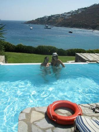 Grecotel Mykonos Blu Hotel: Our private pool and what a view!
