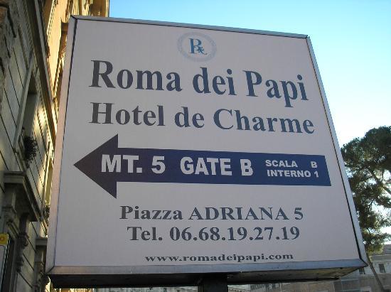 Roma dei Papi - Hotel de Charme : Señalización