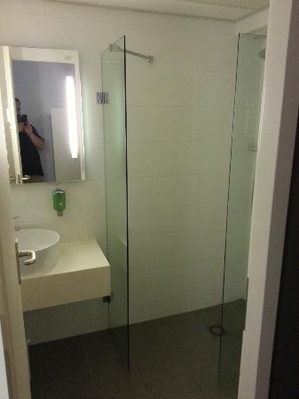 Woudschoten Hotel & Conferentiecentrum : Matching very standard and small bathroom
