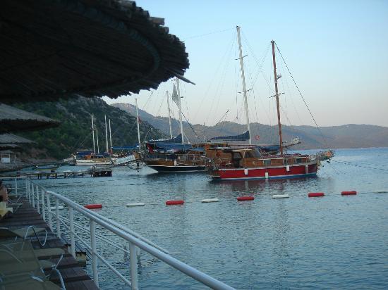 Hapimag Resort Sea Garden: uno dei caicchi ormeggiati nella baia del resort