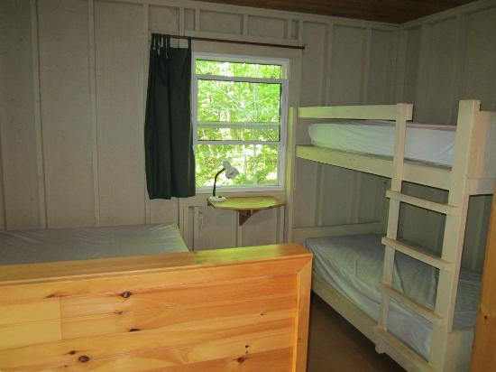 New Glasgow Highlands Campgrounds: inside the cabin