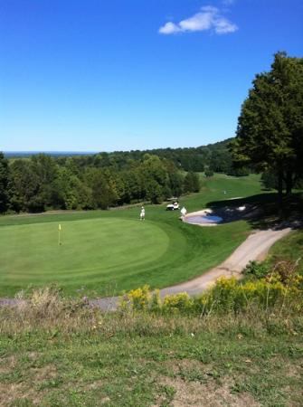 Green Lakes State Park: #18 green overlooking park