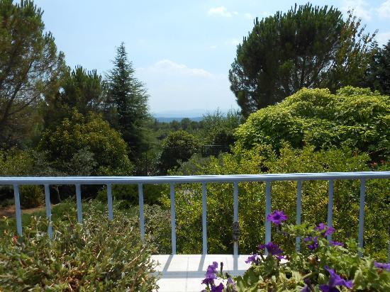 Hotel Le Mas des Collines : une vue de la terrasse