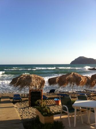 Menia Beach Hotel: utsikten fra resturanten