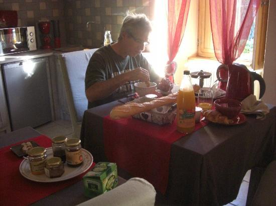 Les Songes de L'Abbaye : un petit déjeuner typique