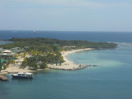 Bodden Tours: View of the island from our ship