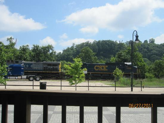 Depot Grille: View from the outside dining area