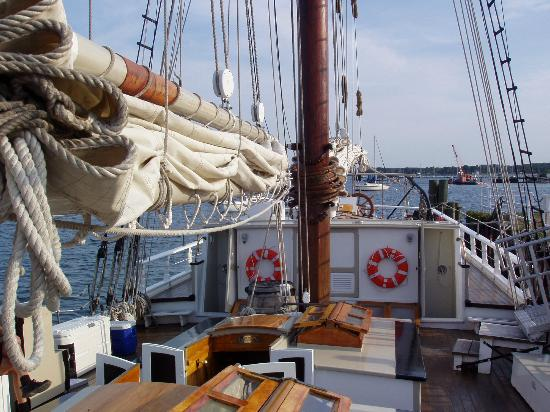 Tall Ship Manitou - Day Tours: Looking towards the bow from midships on the Schooner Manitou