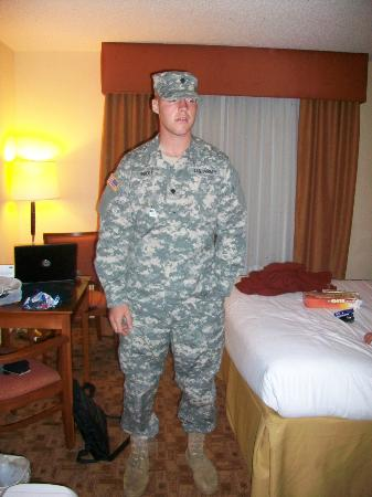 Holiday Inn Express Hotel & Suites Phenix City-Fort Benning Area: My son after graduation, very proud!