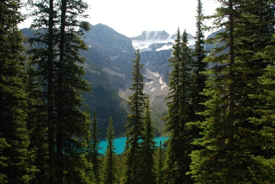 Moraine Lake: View of Morraine Lake from the trail (no photoshopping!!)