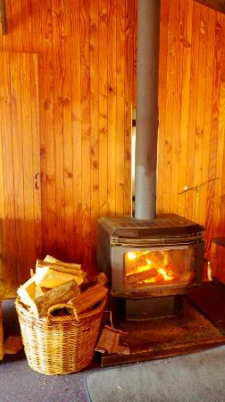 Howards Mountain Lodge: the fire place in the lounge
