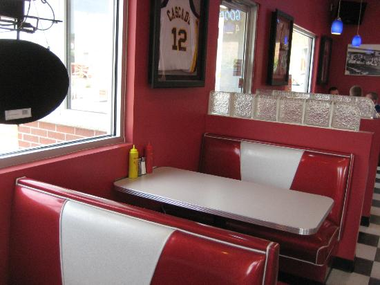 Chuck and Edna's Maid-Rite: a booth