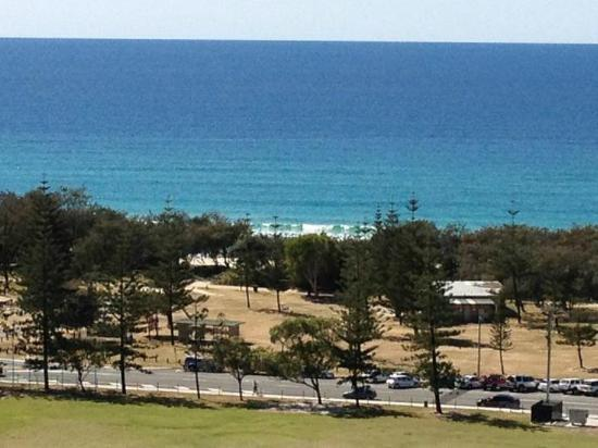 Bel Air on Broadbeach: View of the beach from our room