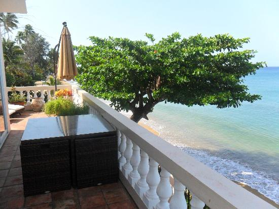 Tres Sirenas Beach Inn: our terrace view