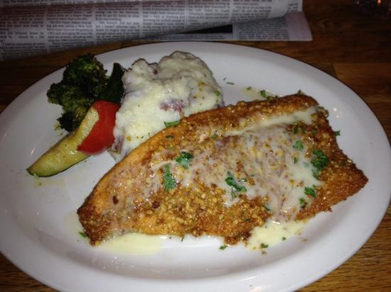 Rosie's: trout... and it's a very flattering photo of the broccoli