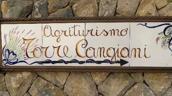 Torre Cangiani: The sign to the Agriturismo