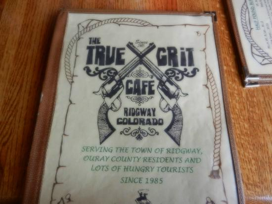 True Grit Cafe: The Menu Cover